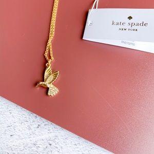 Kate Spade Humming bird Necklace Gold